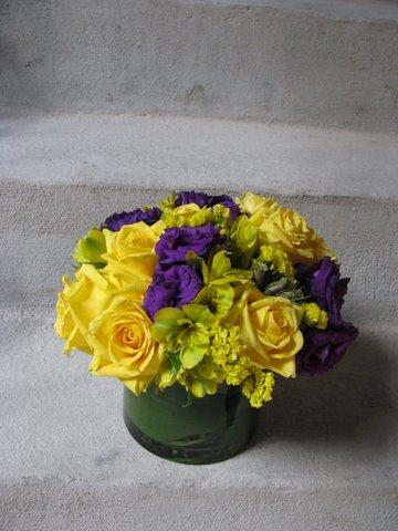 Yellow and Purple Arrangemnt