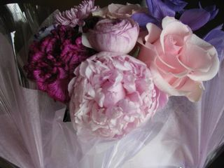 Pink Peony Ranunculus Arrangement