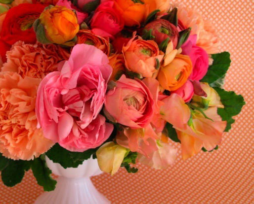 Floral inspiration pink and orange first come flowers mightylinksfo
