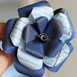 Paper Flower Blue - How About Orange Blog
