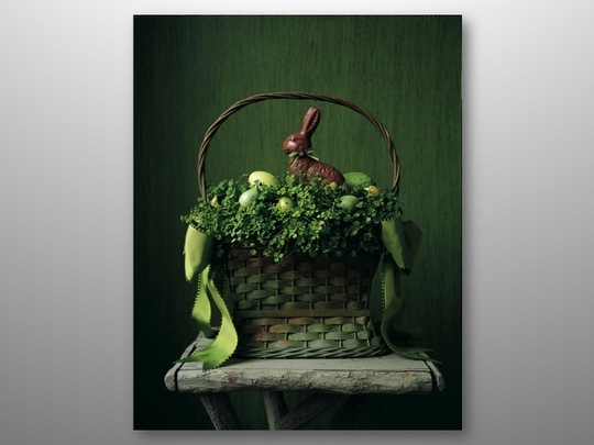 Green easter baskets anyone first come flowers easter basket hannah millman easter baskets negle Images