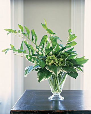 Green Arrangement  MS Hosta Arrangement - Searching for Style