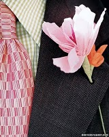 Tissue Paper flowers -paperboutonniere Lovely & Gracious