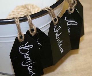 Chalkboard-tags -Wedding By color