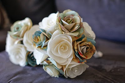 Paper Flower Map Bouquet-Anna Rose-Paper n Wire