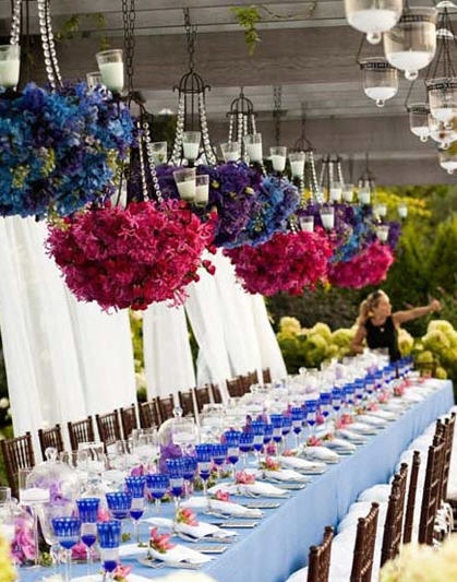 Hanging floral Centerpieces-The Party Dress