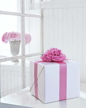 Gift Wrapping Pink Fresh flowers