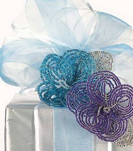 Gift Wrapped Beaded Flowers - Joann Crafts