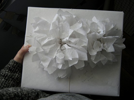 Part 4 how to make flowers for gift wrapping first come flowers gift wrap white paper flowers wildflowers mightylinksfo
