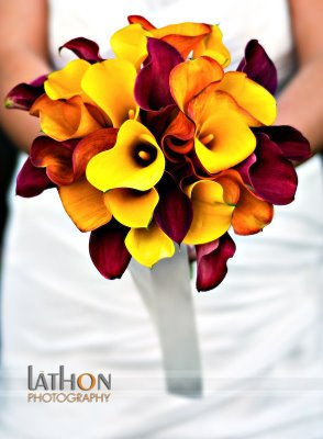 Top 10  Bridal Bouquets 9-11 Callas - Lathon Photography
