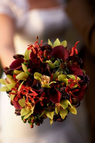 Top 5 Bridal Bouquets 9-11 Green Cymbid -Wedding flower Idea
