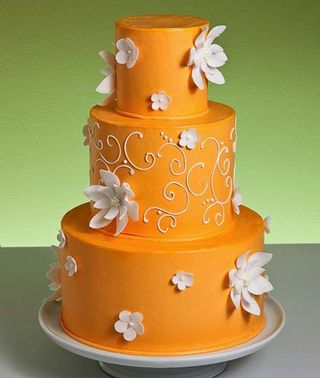 Orange Wedding Cake B - perfect wedding day