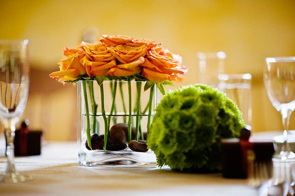 31 Days Of Orange Day 19 Simple Rose Centerpiece First Come Flowers