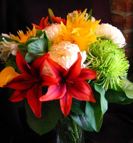 Orange Lily Vase Arrangement