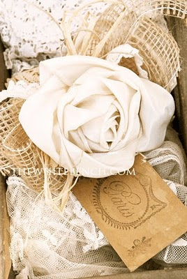 Gift Wrap Rose Tut -The White Bench