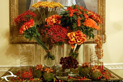 Orange Flower Arrangements Planet flowers - Fleurty Fleurs