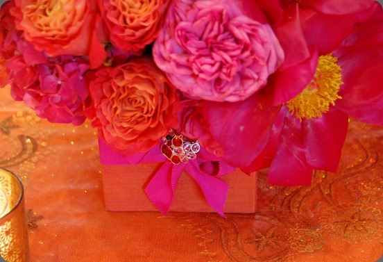31 days of orange day 16 the gift of flowers first come flowers orange pink and orange gift box arrangement mightylinksfo