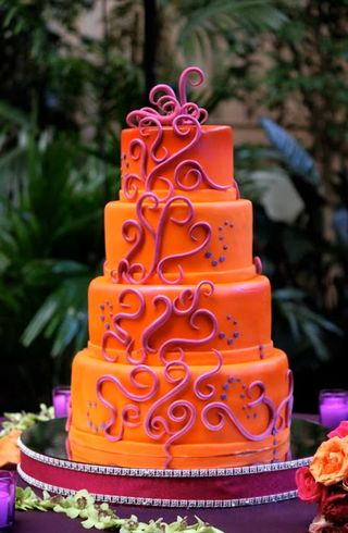 Orange Wedding Cake E