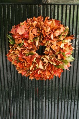 Orange Wreath - the Skirted Table