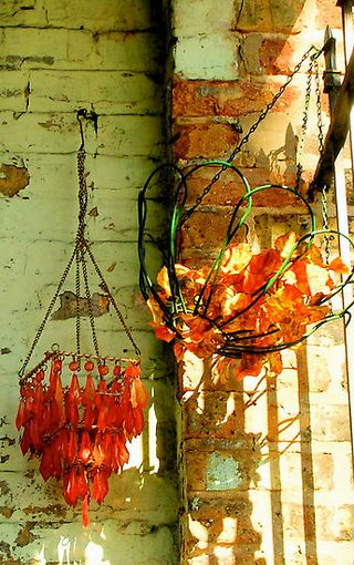 Orange Hanging Lanterns 4