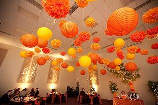 Orange Hanging Lantern 5