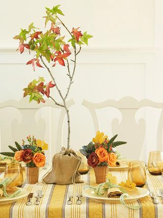 Fall Mini Basket Arrangements - BHG