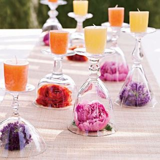 Stemware Flowers and Candles