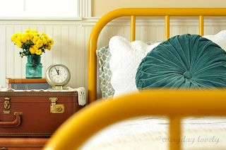 Golden yellow bed.jpg- Everyday Lovely