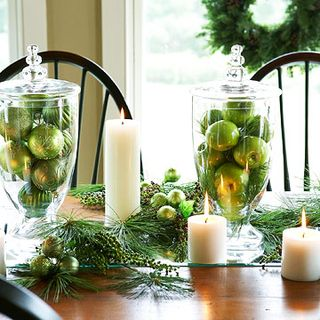 Green Christmas Tablescape - BHG