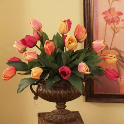 Fake Flower Tulips floral home decor