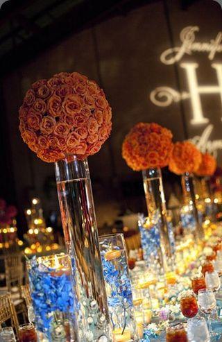 Top 5 Centers 9-11 Orange Roses-Rhonda Patton Designs