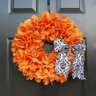 Orange Wreath - Etsy