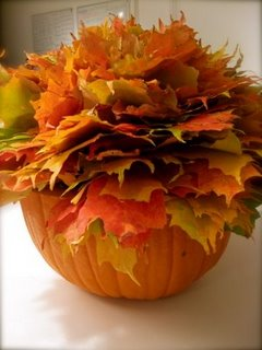 Orange DIY Pumpkin Centerpiece