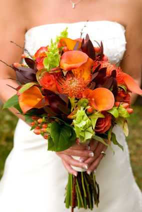 Orange Top 5 Oct Wedding Bouquets - Wedding Flwrs