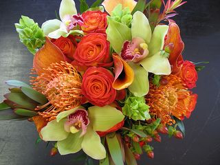 Orange Top 5 Oct Wedding Bouquets-My wedding place