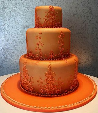 Orange Wedding Cake C - perfect wedding cake