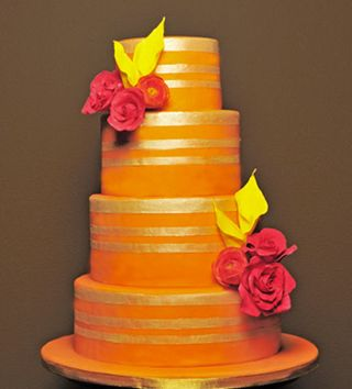 Orange Wedding Cake D- Cakes for Wedding