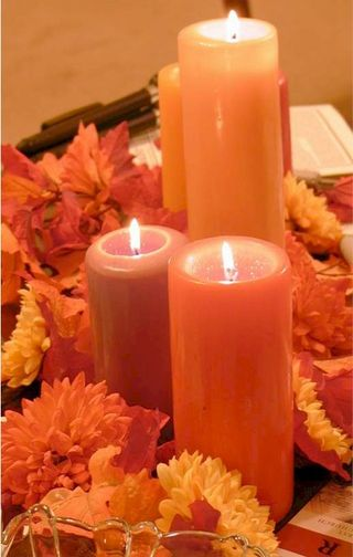 Orange Top 5 Oct Centers Candles A