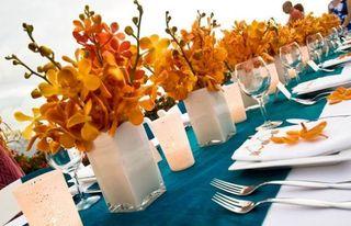 Orange Top 5 Oct Flower Arrang 2 - Orchids