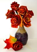 Orange Autumn Leaf  Bouquet DS