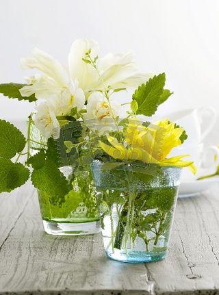 Thanksgiving flowers in Glasses