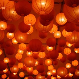 Orange Hanging Lanterns 1