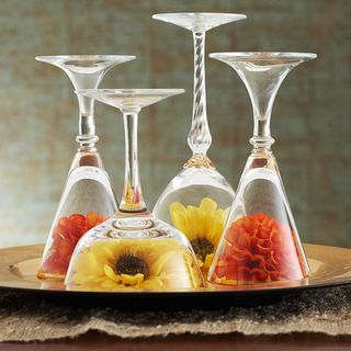 Inverted Glass Centerpieces - BHG