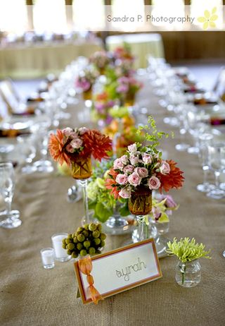 Thanksgiving Mini Arange- rustic wedding chic