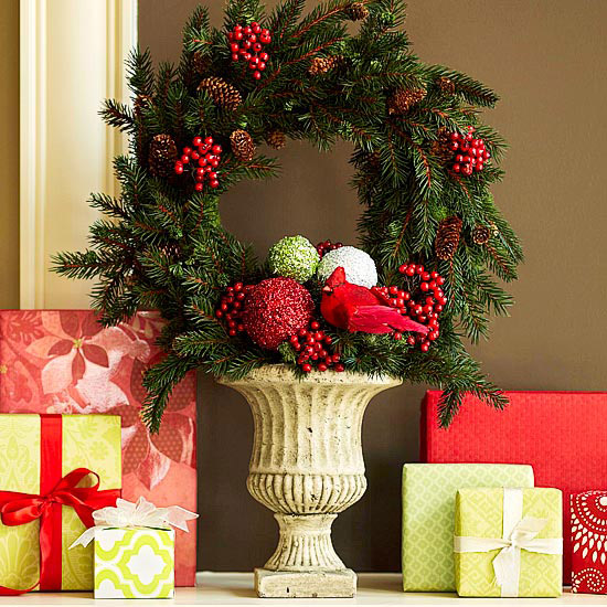 BHG Wreath and gifts