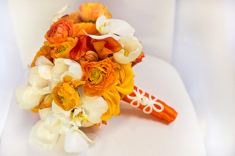 wedding flowers orange