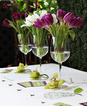 How To Make Stem Glass Flower Arrangements First Come Flowers