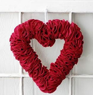 Valentine Wreath Red Felt