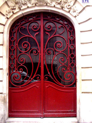 Red doors Ornate