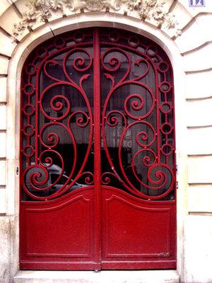 Red doors Ornate